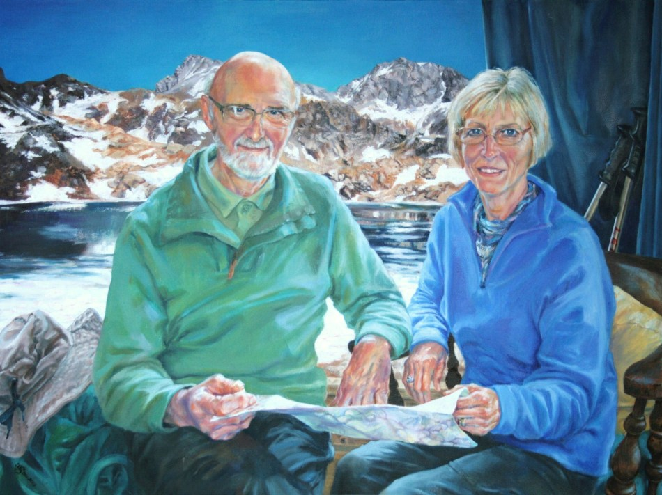 Mr and Mrs Bates Oil on canvas, 2013. 60 x 80 cms