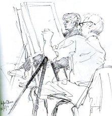 Figures in Art class Biro, 2013