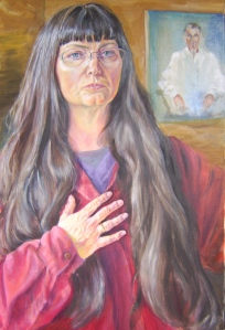 Work in Progress (self portrait) Oil on canvas 2013