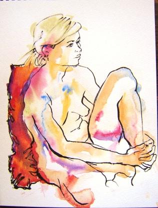 Loose watercolour 4 Joanna Stone 2015 Watercolour and brush pen