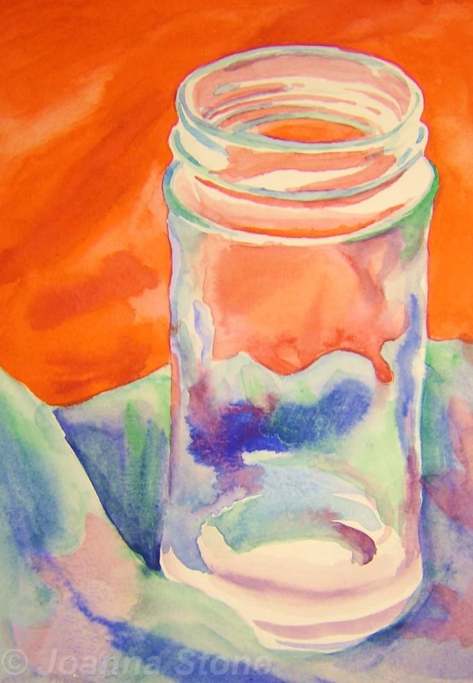Glass Jar (1st watercolour workshop)
